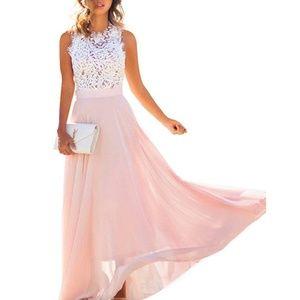 Dresses & Skirts - Lace top, maxi dress